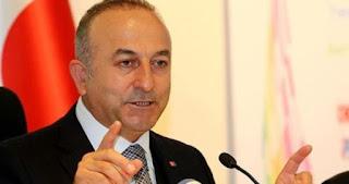 مولود جاوش اوغلو وزير الخارجية التركي يوجة دعوة الى روسيا بالهدوء