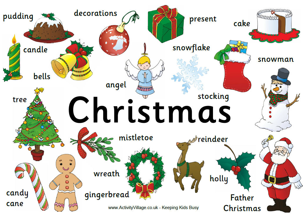 Click-in-English: CHRISTMAS VOCABULARY
