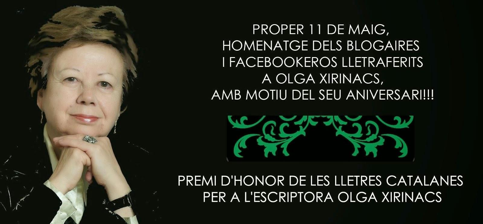Premi d'Honor per a Olga Xirinacs