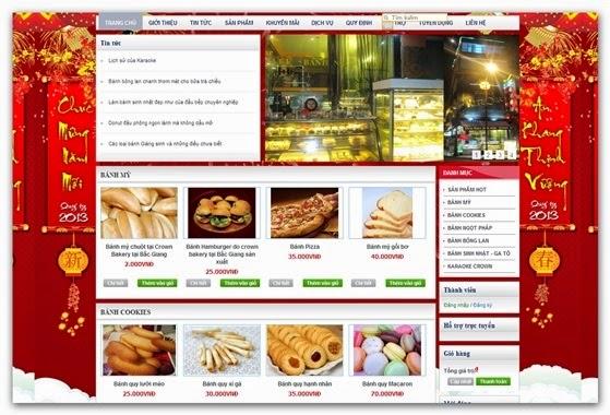 thiết kế website bán hàng bánh ngọt giá rẻ
