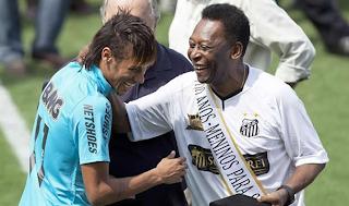 Neymar y Pelé celebraron el centenario del Santos