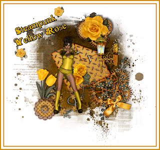 Steampunk Yellow Rose PSP Tutorial