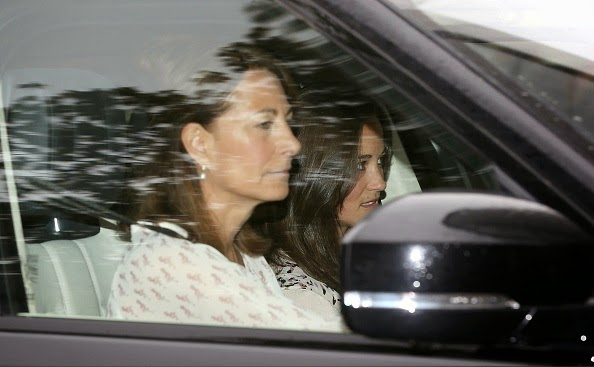 Carole, Pippa And Michael Middleton Arrived At Kensington Palace To See New Baby Princess