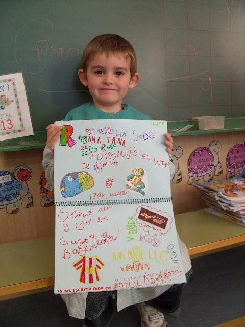 Mi aula infantil anika libro viajero letras divertidas luca - Ideas libro viajero infantil ...