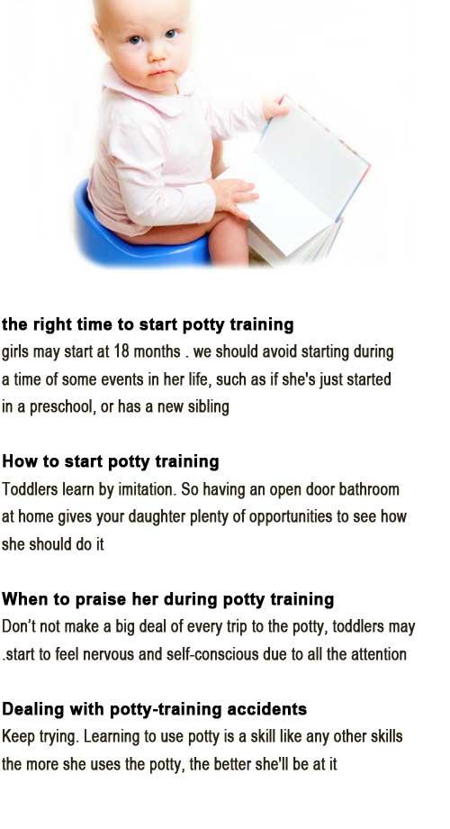 When to start potty training girls