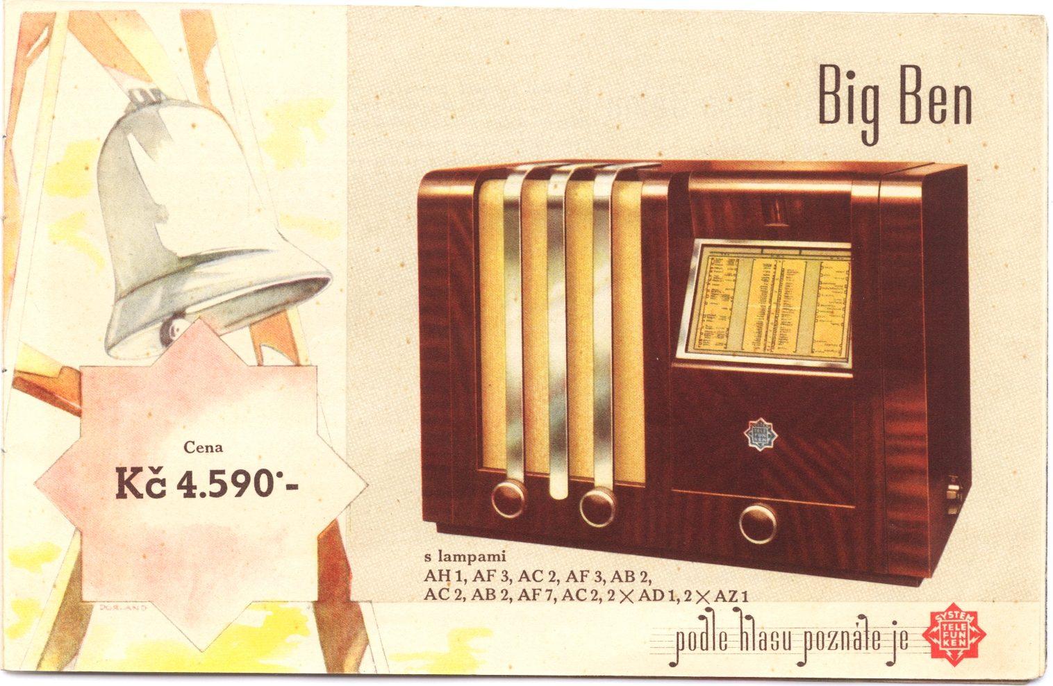 Doctor Ojiplático. Aparatos de Radio. 42 ejemplos de publicidad vintage. Telefunken