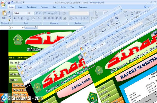 Sistem Aplikasi Raport Madrasah KTSP 2006 dengan Microsoft Excel Download Gratis