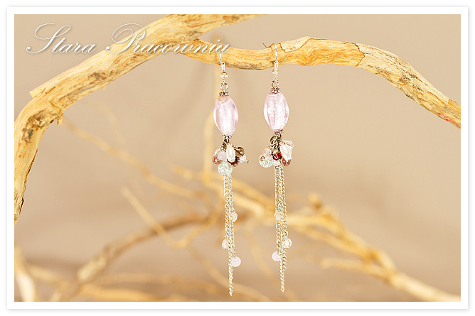 Kolczyki, Kolczyki ręcznie robione,kolczyki ze szkłem weneckim, Biżuteria autorska, Unikatowa biżuteria, rękodzieło