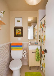 Bathrooms with color details
