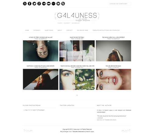 Galauness Grid Free Blogger Template 2016