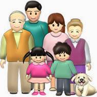 3世代家族のイラスト・サンプル