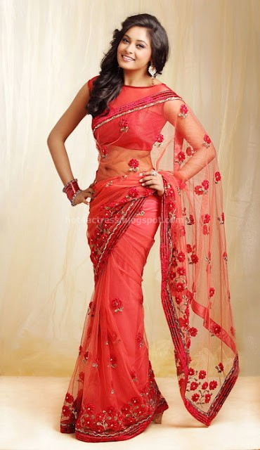 bollywood, tollywood, hot, Arundhati, latest, cute, stills, in, red, saree