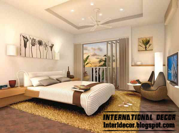 White Turkish Bedroom Design With Modern Furniture And Ceiling