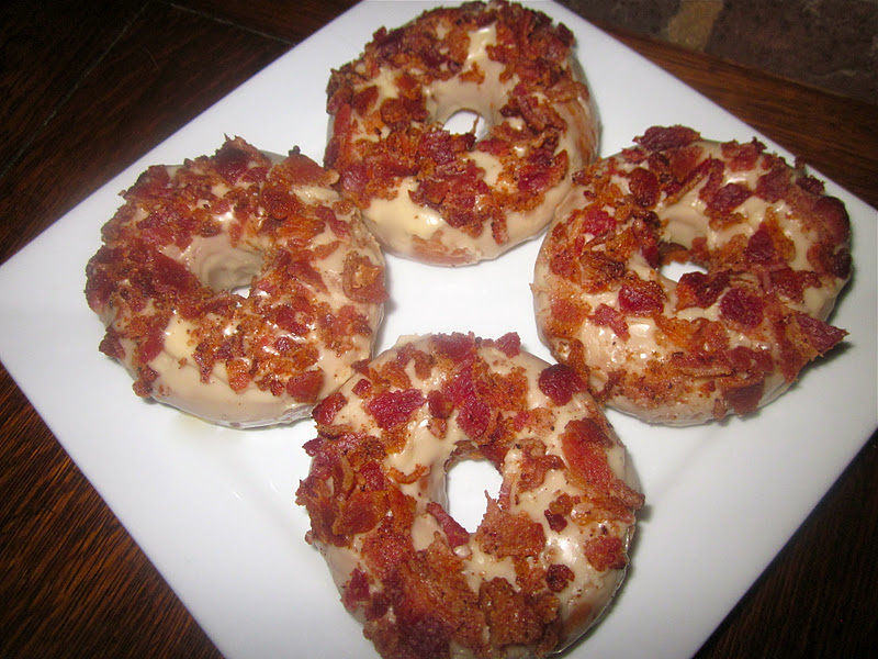 ... + Heirloom: Revamped: Homemade Bacon-Bourbon-Maple Glazed Doughnuts