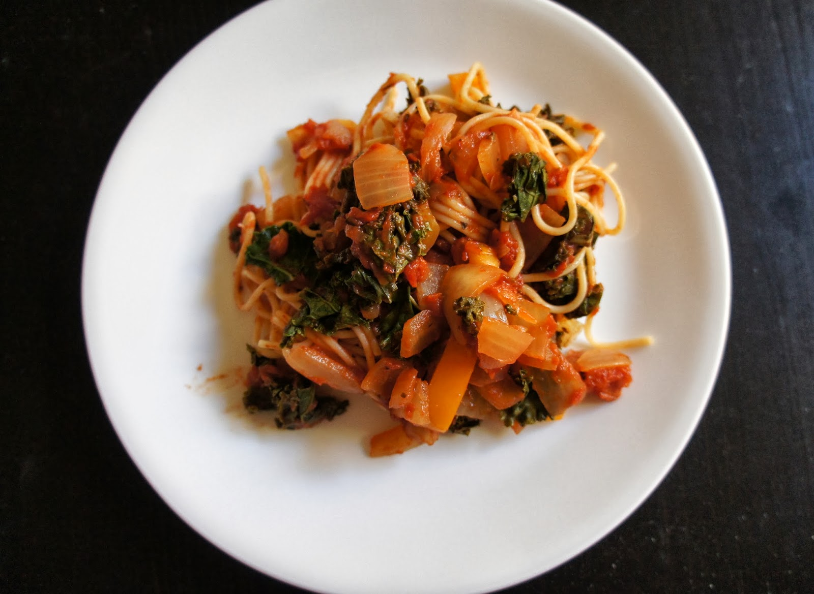 ... tomato split pea sauce and now this chickpea tomato and kale spaghetti