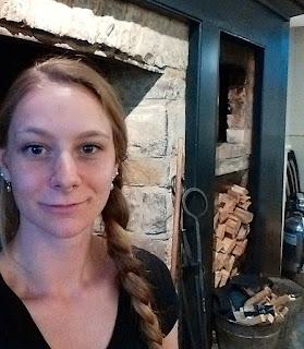 Inside Montgomery's Inn historic stie with Leena.