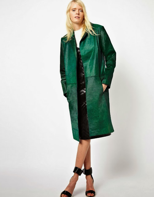 green hair coat