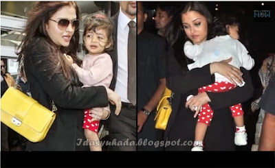 Gambar-Gambar Aishwarya Rai Bersama Anak Perempuannya Aaradhya