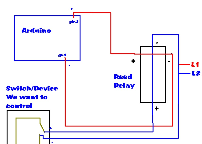 arduino projects reed relays why would i want to use one rh gncarduino blogspot com Diagram 8 Wiring Pin Relay Starter Relay Wiring Diagram