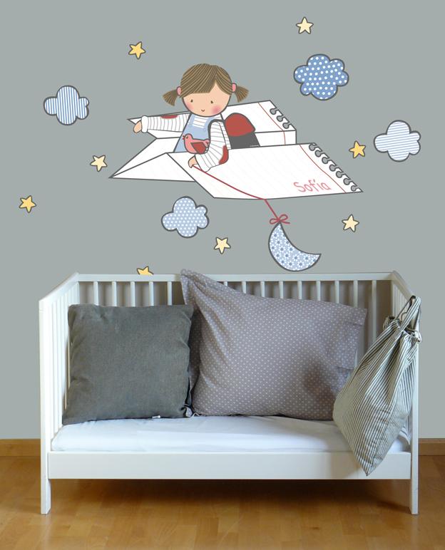 Vinilos infantiles personalizados habitacion infantil con - Vinilos personalizados pared ...