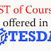 Course Offered in TESDA Online Program