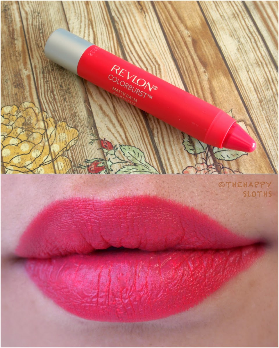 """Revlon ColorBurst Matte Balm in """"Unapologetic"""" swatches review"""