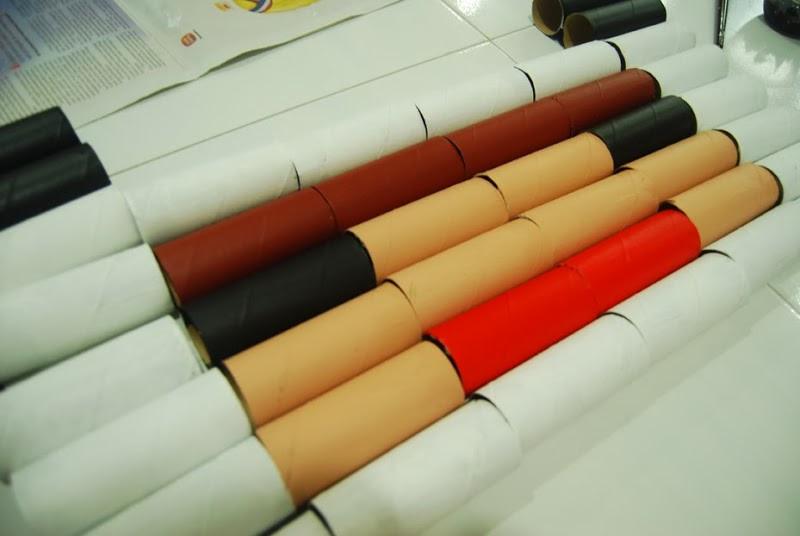 Decorar con rollos de papel higiénico en Recicla Inventa