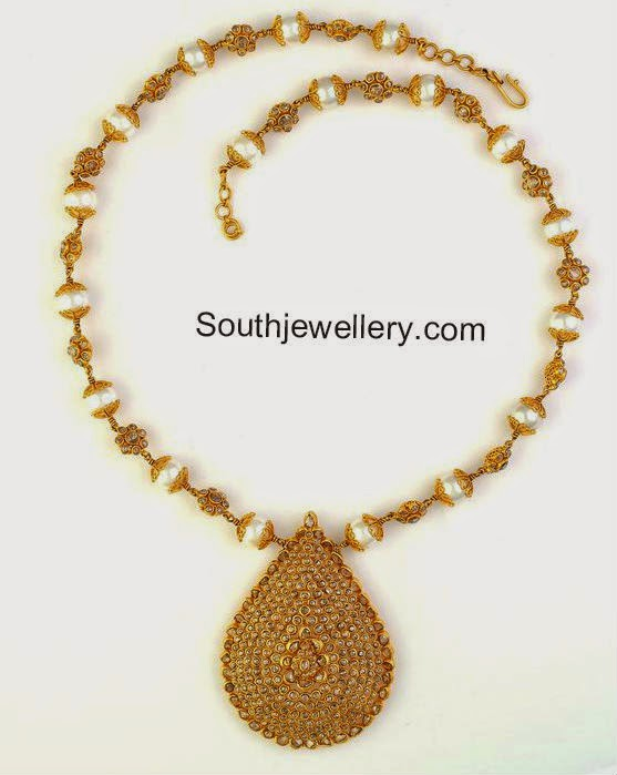 southsea pearls uncut necklace