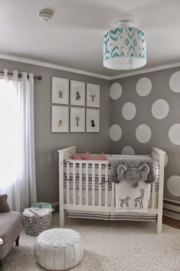 Dormitorios de beb en color gris y celeste colores en casa for Habitacion bebe gris