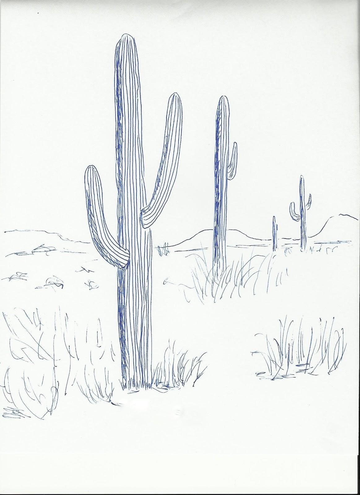 art class ideas cactus. Black Bedroom Furniture Sets. Home Design Ideas