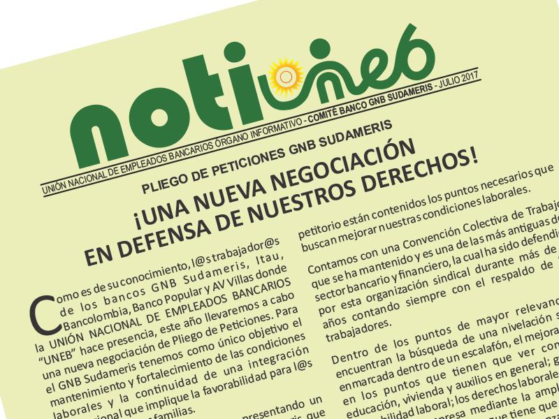 Pliego de peticiones GNB Sudameris ¡una nueva negociación en defensa de nuestros derechos!