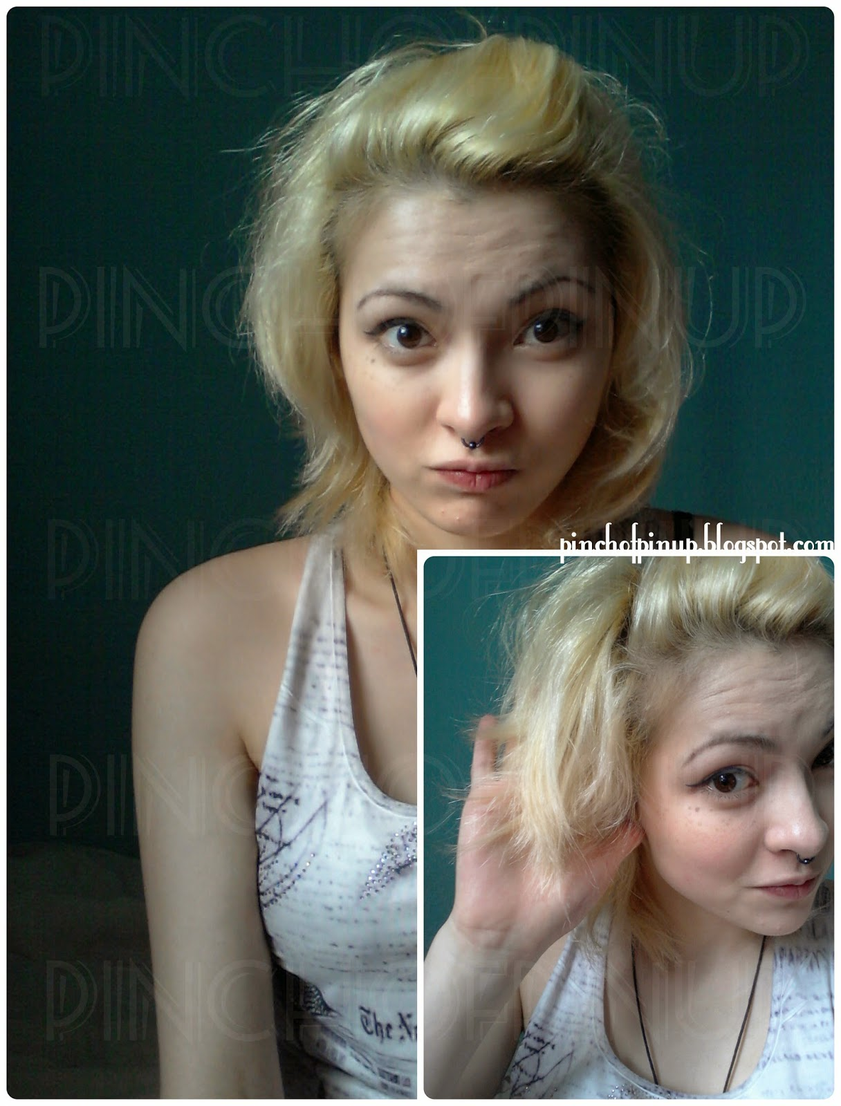 Going Bleach Blonde To Brown Pt 1 Filler A Pinch Of Pin Up