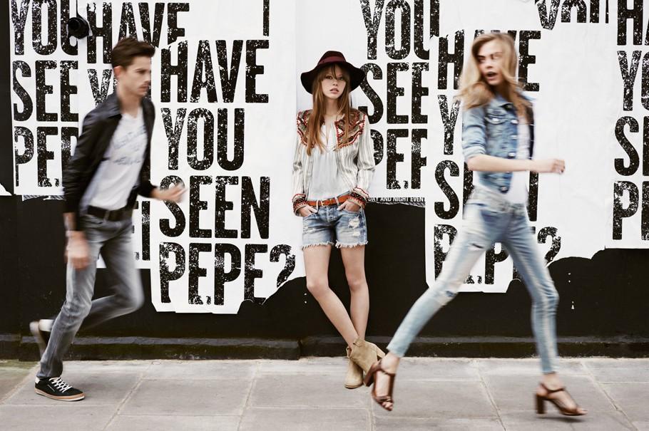 cara campaña de pepe jeans