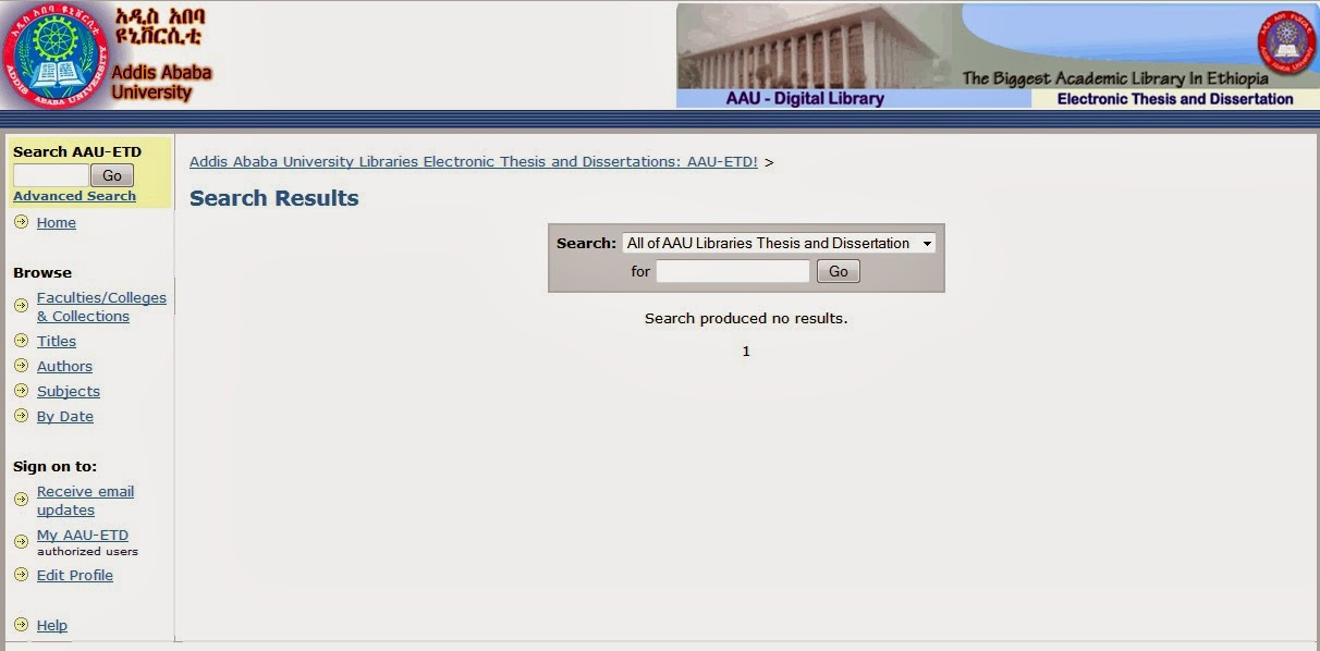 addis ababa university libraries electronic theses and dissertations database Aau institutional repository/electronic thesis and dissertation aau institutional repository/electronic thesis and dissertation addis ababa university.