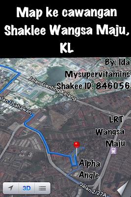 Map ke Shaklee Wangsa Maju, KL