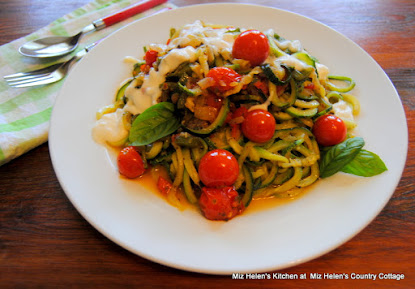 Zoodles with Fresh Tomato Saute