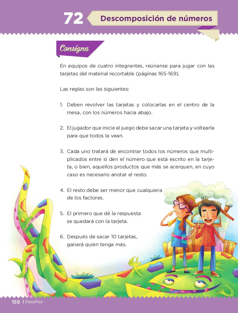 Descompocisión de numeros - Desafios matemáticos 3ro Bloque 5/2014-2015