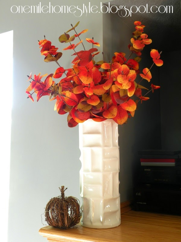 Simple red and yellow fall decor
