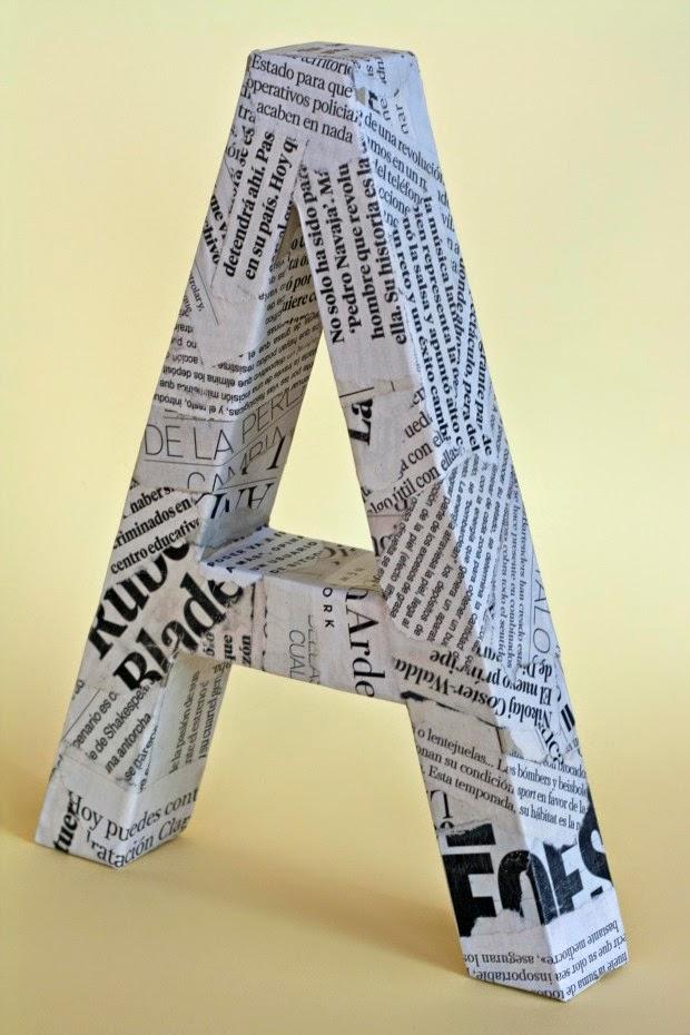 C mo hacer unas letras decorativas con cart n mimundomanual - Como hacer letras decorativas ...
