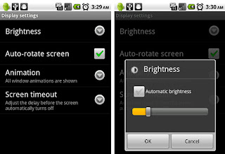 android displays settings