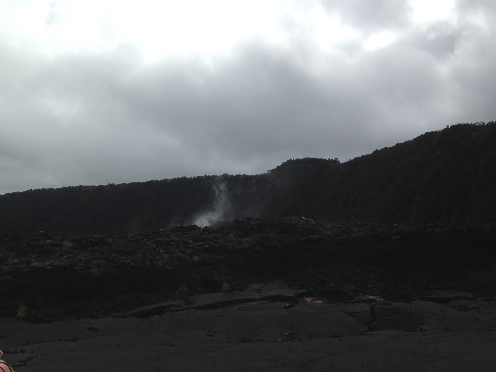 Kilauea volcano steam vent