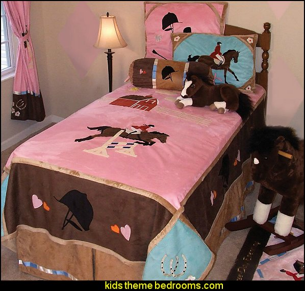 Horse Themed Bedroom Decorating Ideas Part - 18: English Bedding Equestrian Bedding Dressage Theme Bedroom Decorating Ideas