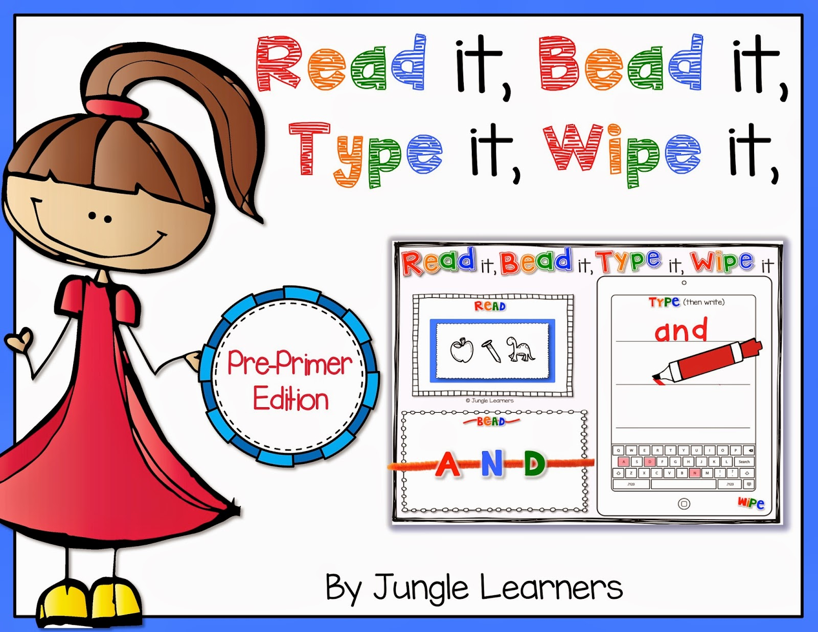 https://www.teacherspayteachers.com/Product/Read-it-Bead-it-Type-it-Wipe-it-Pre-Primer-Sight-Word-Edition-1440272
