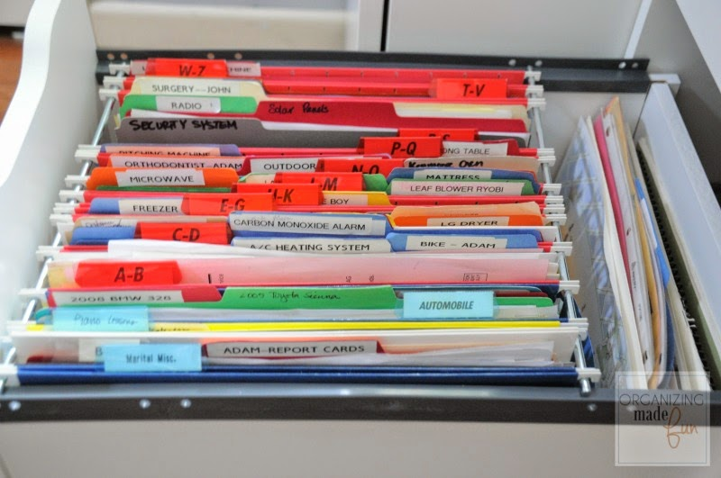 Filed Drawer In The Ikea Alex File Drawer Unit :: OrganizingMadeFun.com