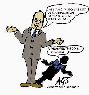 Alfano, Terrorismo, Bardo, Touil, satira, vignetta