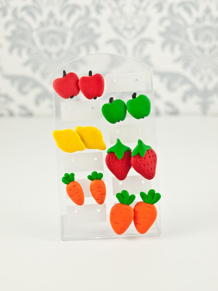 kolczyki truskawki