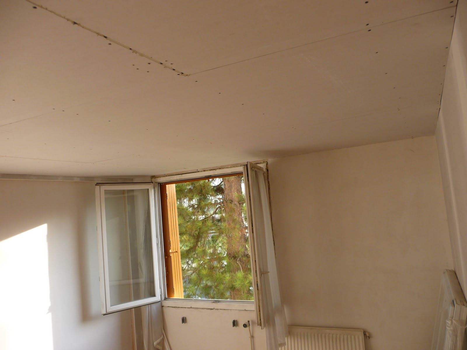 R novation d 39 un appartement montage du ba13 for Les fou plafond