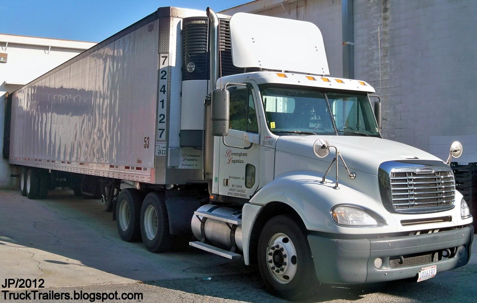 TRUCK TRAILER Transport Express Freight Logistic Diesel Mack Peterbilt ...