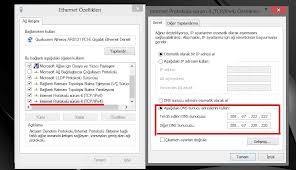 windows 8 dns değiştirme