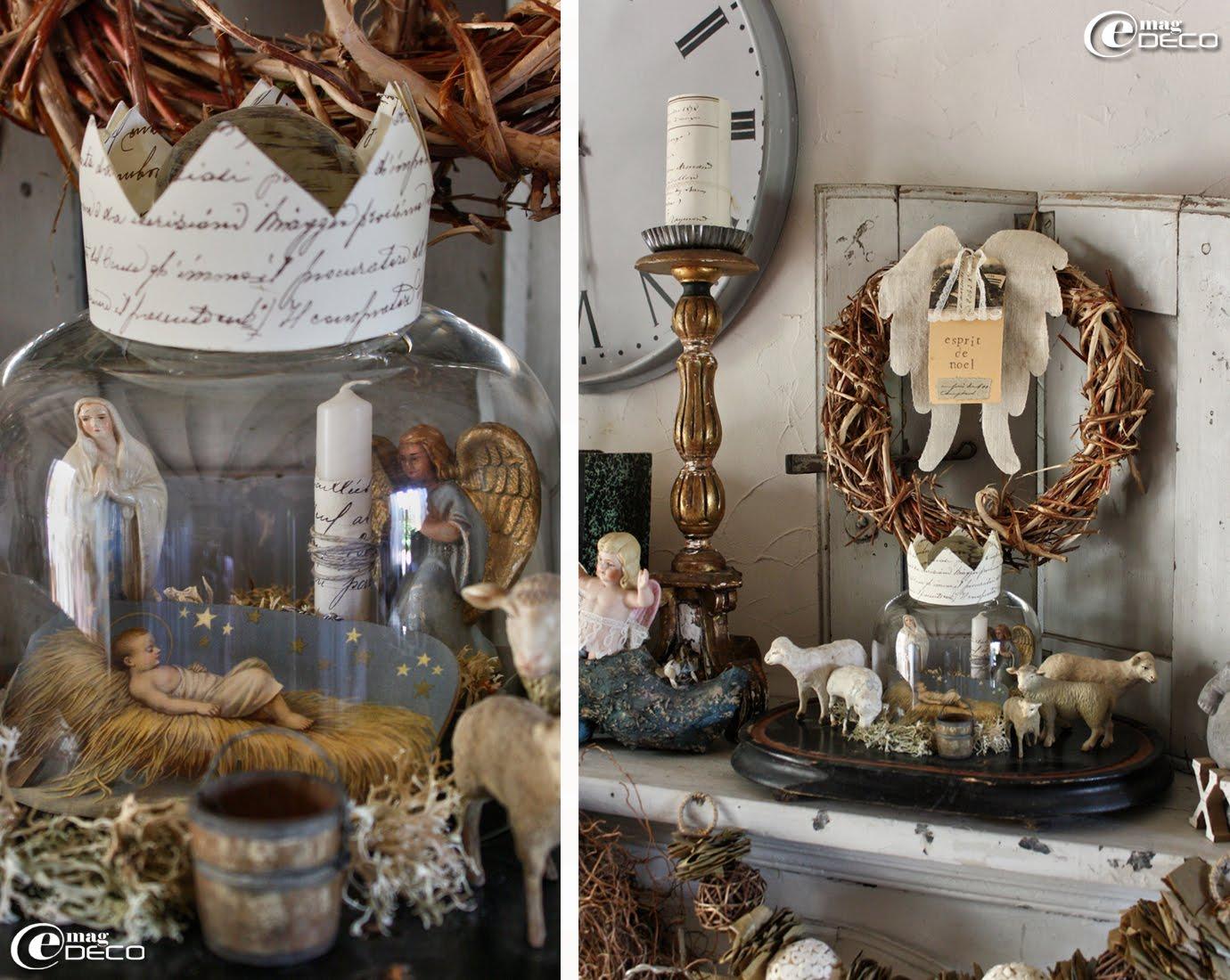 decoration de noel sous cloche. Black Bedroom Furniture Sets. Home Design Ideas
